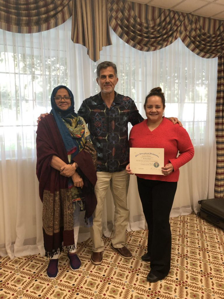 Instructor Eleanne from New Hampshire & Instructor Husna from Pakistan with Ken Coscia, Silva Method New Hamshire